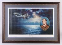 "Charles Lindbergh LE ""50th Anniversary Commemorative Print"" 31x43 Custom Framed Print Display (PA LOA)"