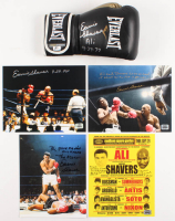 Lot of (5) Earnie Shavers Signed Items with (4) 8x10 Photos & (1) Everlast Boxing Glove with Muhammad Ali Inscriptions (Shavers Hologram) at PristineAuction.com