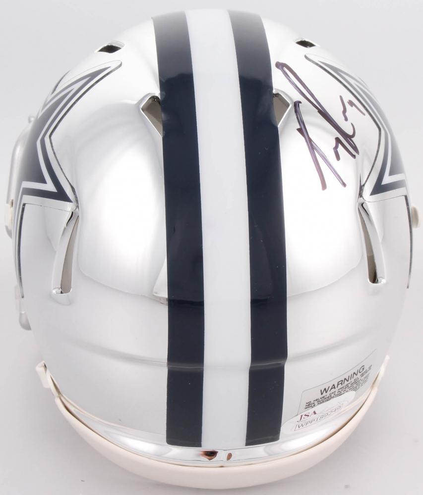 08c151d3076 Tony Romo Signed Dallas Cowboys Chrome Speed Mini Helmet (JSA COA) at  PristineAuction.
