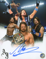 A. J. Styles Signed WWE 8x10 Photo (Pro Player Hologram)