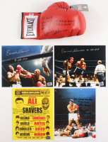 Lot of (5) Earnie Shavers Signed Items with (4) 8x10 Photos & (1) Everlast Boxing Glove with Muhammad Ali Inscriptions (Shavers Hologram)
