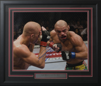 Georges St-Pierre Signed 22x27 Custom Framed Photo Display (SI COA)