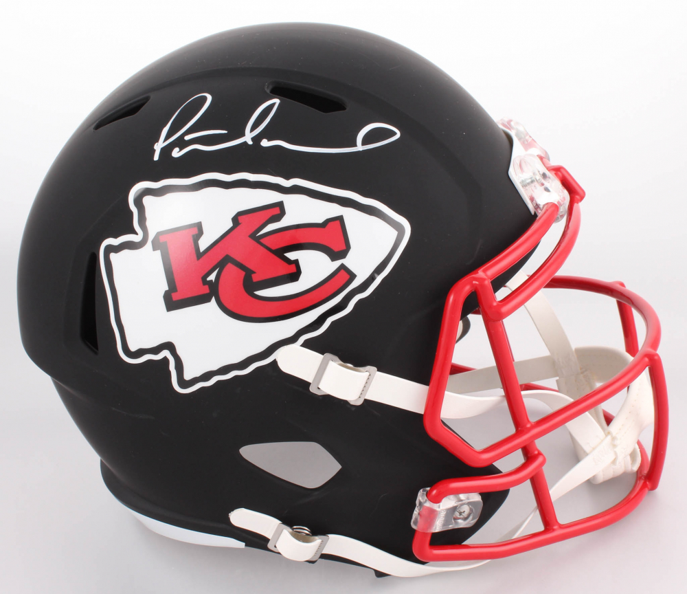 35d6c166311 Patrick Mahomes Signed Kansas City Chiefs Custom Matte Black Full-Size Speed  Helmet (JSA COA)