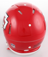 "Patrick Mahomes Signed Kansas City Chiefs Full-Size Auhentic On-Field Speed Helmet Inscribed ""18 MVP"" (JSA COA) at PristineAuction.com"