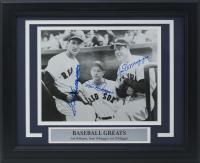 "Joe DiMaggio, Ted Williams & Dom DiMaggio Signed ""Baseball Legends"" 11x14 Custom Framed Photo Display (PSA LOA)"