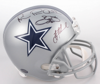 Troy Aikman, Emmitt Smith & Michael Irvin Signed Dallas Cowboys Full-Size Helmet (JSA COA, PROVA Hologram & Aikman Hologram) at PristineAuction.com