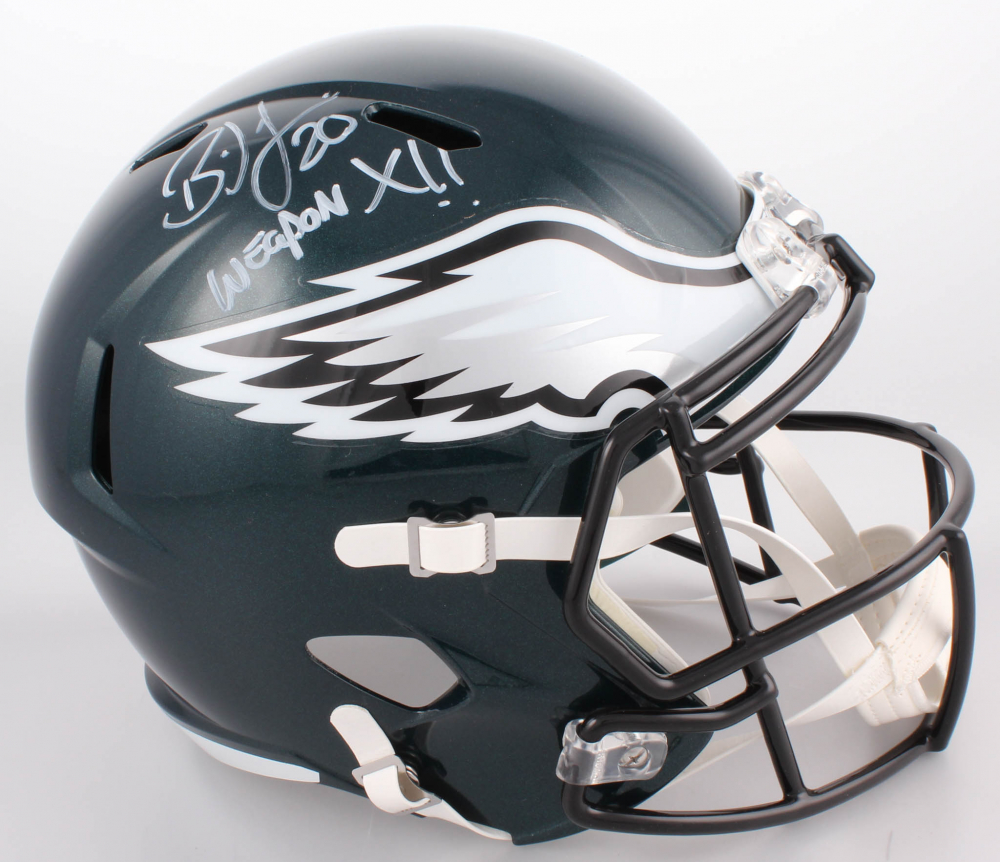 fa391aef20f Brian Dawkins Signed Philadelphia Eagles Full-Size Speed Helmet Inscribed