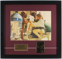 """Star Wars: A New Hope"" 17.5x18.5 Custom Framed Photo with 23Kt Gold Card"