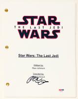 """Adam Driver Signed """"Star Wars: The Last Jedi"""" Full Movie Script (PSA COA) at PristineAuction.com"""