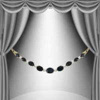 7.85 CT Black Sapphire & Diamond Elegant Necklace
