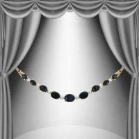 7.85 CT Black Sapphire & Diamond Elegant Necklace