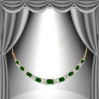 9.85 CT Green Agate & Diamond Elegant Necklace