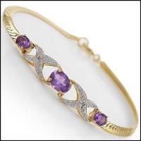 4.25 CT Amethyst & Diamond Designer Bracelet