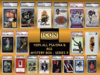 Icon Authentic 100% ALL PSA/DNA & BGS Mystery Box Series 9