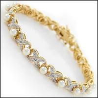 13.41 CT Pearl & Diamond Designer Bracelet