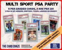 "The Card Craze ""PSA Party"" Premium Multi-Sport Mystery Box (5 Hits Per Box)"