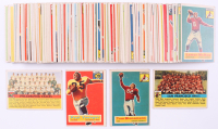 Complete Set of (120) 1956 Topps Football Cards with #18 Paul Younger, #10 Tom Bienemann, #26 San Francisco 49ers Team Card, & #40 Philadelphia Eagles Team Card