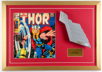 "Stan Lee Signed ""Thor"" 19x27 Custom Framed Helmet Wing Prop Display (PSA COA)"