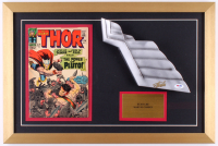 "Stan Lee Signed ""Thor"" 16x24 Custom Framed Helmet Wing Prop Display (PSA COA)"