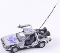 "Christopher Lloyd & Michael J. Fox Signed ""Back To The Future"" Delorean Time Machine 1:24 Die Cast Car (PSA LOA) at PristineAuction.com"