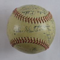 1949 Brooklyn Dodgers ONL Baseball Team-Signed by (24) with Jackie Robinson, Pee Wee Reese, Duke Snider (JSA LOA)