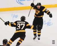 Patrice Bergeron & Brad Marchand Signed Boston Bruins 16x20 Photo (Bergeron & Marchand Hologram)