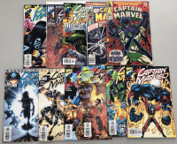 Lot of (22) Assorted Marvel Captain Marvel Comic Books at PristineAuction.com