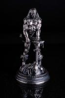 6 oz Antique Finish Frank Frazetta Legacy Collection The Barbarian Silver Statue (New, Box + CoA)