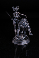 6 oz Antique Finish Frank Frazetta Legacy Collection The Huntress Silver Statue (New, Box + CoA)