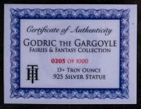 13 oz Antique Finish Godric the Gargoyle Silver Statue (New, Box + CoA) at PristineAuction.com