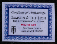 20 oz Antique Finish Silversmith Judges Series Samson and the Lion Silver Statue (New, Box + CoA) at PristineAuction.com