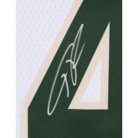 Giannis Antetokounmpo Signed Milwaukee Bucks Nike White Jersey (Fanatics Hologram) at PristineAuction.com