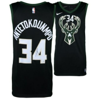 Giannis Antetokounmpo Signed Milwaukee Bucks Nike Black Statement Edition Jersey (Fanatics Hologram) at PristineAuction.com