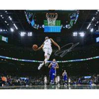 "Giannis Antetokounmpo Signed Milwaukee Bucks ""In Air"" 16x20 Photo (Fanatics Hologram) at PristineAuction.com"