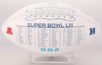 Rob Gronkowski Signed NFL Super Bowl LIII Logo Football (Beckett COA) at PristineAuction.com