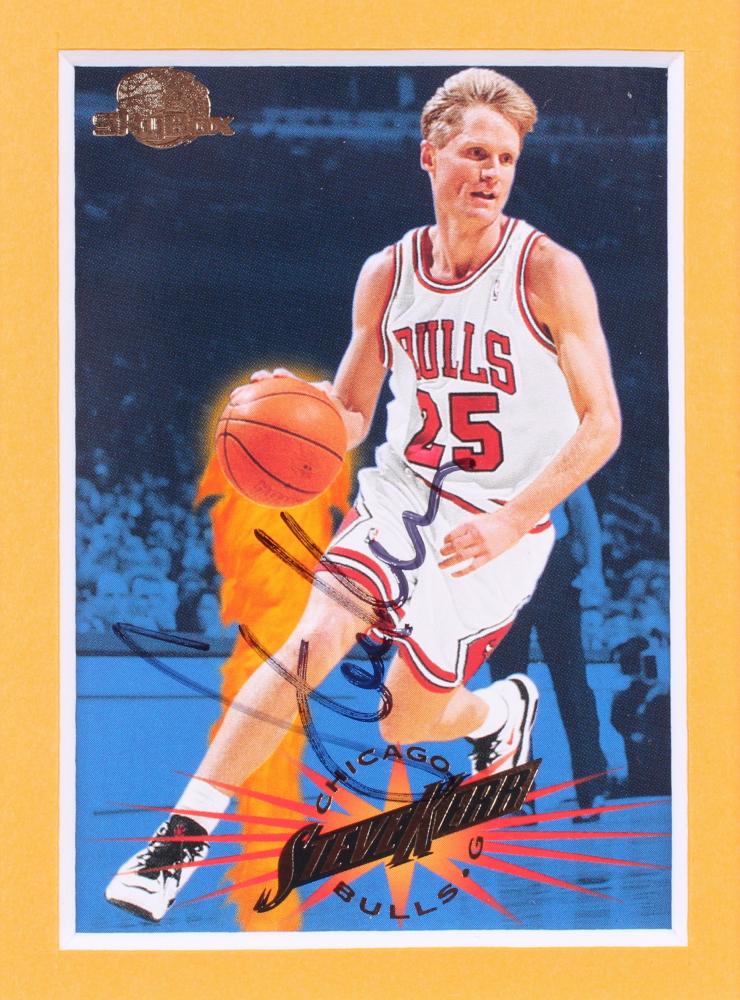 344df2824 Steve Kerr Signed Chicago Bulls 12x18 Custom Matted Basketball Card Display  (Palm Beach COA)