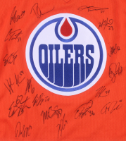 2016-17 Edmonton Oilers Jersey Team-Signed by (18) with Connor McDavid, Kris Russell, Adam Larsson, Griffin Reinhart, Matt Hendricks (JSA ALOA) at PristineAuction.com