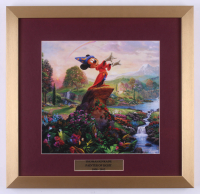 "Thomas Kinkade Walt Disney's ""Mickey Mouse"" 17.5x18 Custom Framed Print"