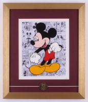 "Walt Disney's ""Mickey Mouse"" 15x17.5 Custom Framed Hand-Painted Animation Serigraph with Coin"