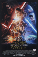 """Daisy Ridley Signed """"Star Wars: The Force Awakens"""" 11x17 Movie Poster Print (PSA COA)"""