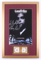 """Henry Hill Signed LE """"Goodfellas"""" 17x26 Custom Framed Photo Display with Movie Replica Prop Money Inscribed """"Goodfella"""" (PSA COA)"""