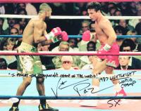 Vinny Pazienza Signed 11x14 Photo With Extensive Inscriptions (JSA COA)