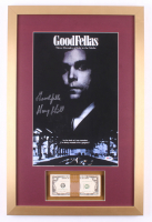 "Henry Hill Signed ""Goodfellas"" 17x26 Custom Framed Photo Display with Movie Replica Prop Money Inscribed ""Goodfella"" (PSA COA)"