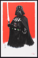 """Tom Hodges Signed LE """"Darth Vader"""" Star Wars 11"""" x 17"""" Lithograph (PA COA)"""