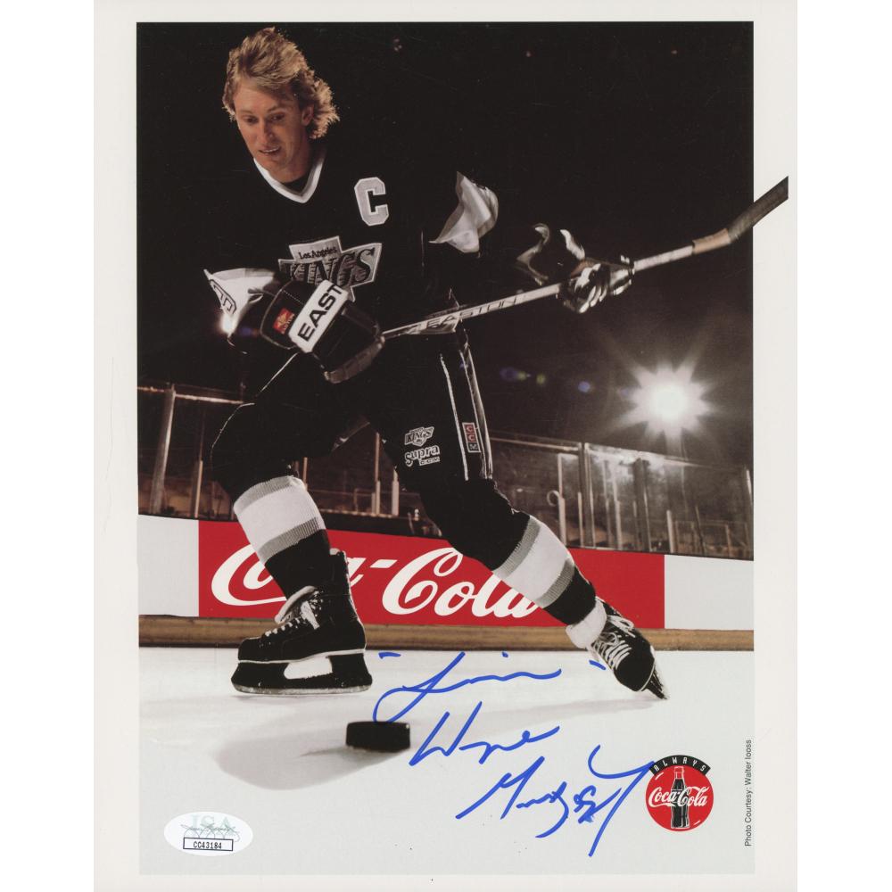 Wayne Gretzky Signed Los Angeles Kings 8x10 Photo Jsa Coa Pristine Auction
