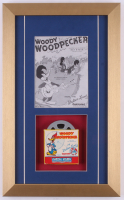 "Vintage 1950's Walter Lantz ""Woody Woodpecker"" 11x18 Custom Framed Film Reel Display"
