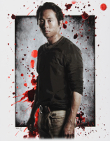 "Jeff Lang Signed AP ""Glenn Rhee"" The Walking Dead 11"" x 14"" Art Print (PA COA)"