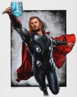 "Jeff Lang Signed AP ""Thor"" Marvel Comics 11"" x 14"" Art Print (PA COA)"
