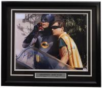 "Adam West & Burt Ward Signed ""Batman"" 22x27 Custom Framed Photo Display Inscribed ""Robin"" (PSA COA)"