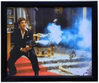 "Al Pacino Signed ""Scarface"" 20x25 Custom Framed Canvas Print (Beckett COA)"